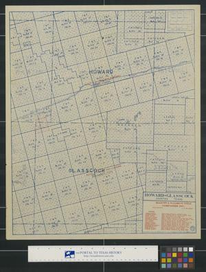 Primary view of object titled 'Howard & Glasscock Counties, Texas.'.