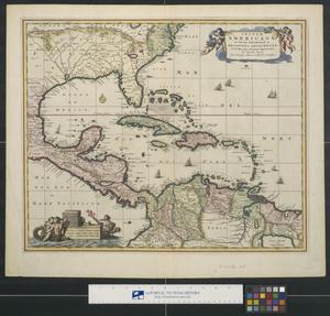 Primary view of Insulæ Americae in Oceano Septentrionali ac regiones.