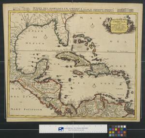Primary view of Insulae Americanae, nempe Cuba, Hispaniola Iamaica, Pto. Rico, Lucania, Antillae vulgo Caribæ, Barlo-Et Sotto-Vento etc.