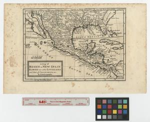 Primary view of object titled 'A map of Mexico or New Spain, Florida now called Louisiana and part of California &c.'.