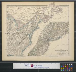 Primary view of object titled '[Map of the eastern United States]'.