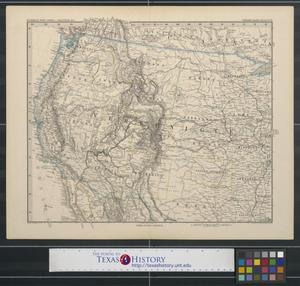 Primary view of object titled '[Map of the western United States]'.