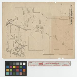 Primary view of object titled 'Plat of la Gloria Ranch in Duval County, Texas.'.