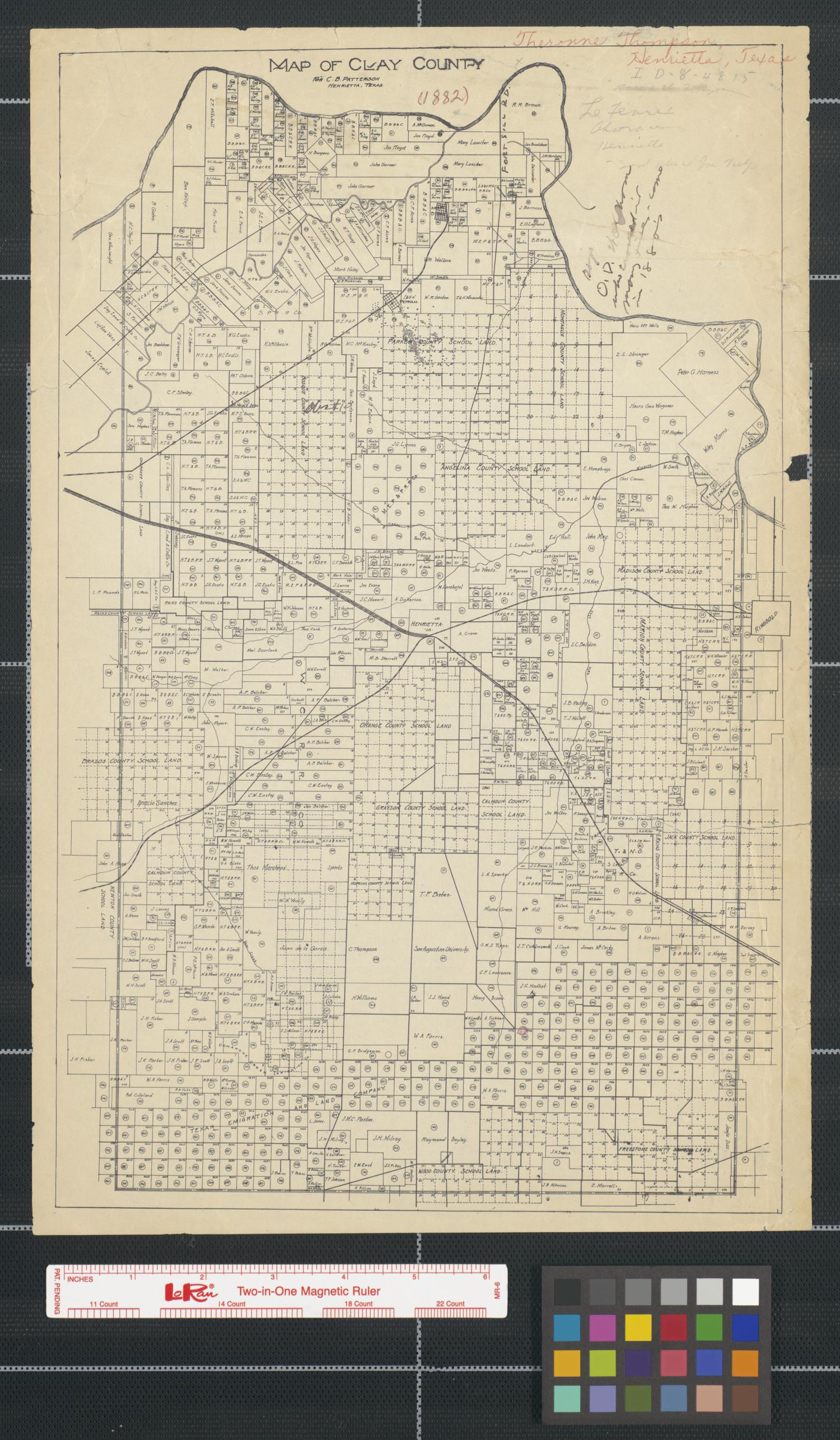 map of clay county  texas