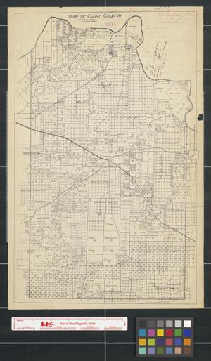 Primary view of object titled 'Map of Clay County [Texas]'.