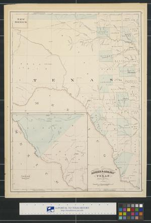 Primary view of object titled 'Asher & Adams' Texas: Western Portion.'.