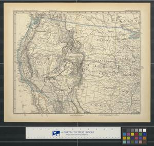 Primary view of object titled '[Map of the western United States].'.