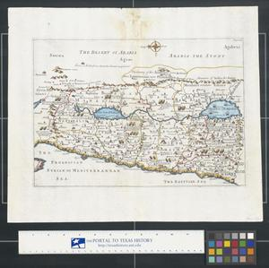 Primary view of object titled '[Map of the Holy Land]'.