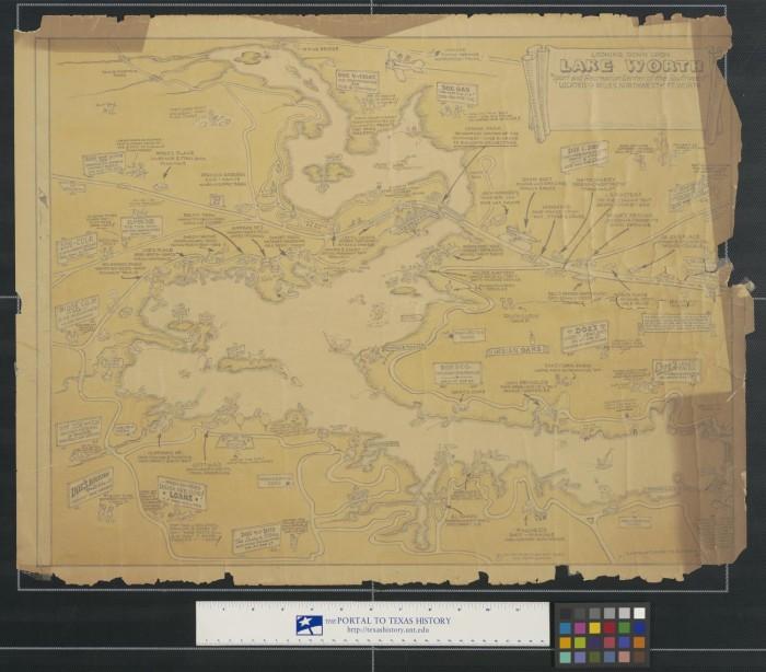 map of lake worth tx Looking Down Upon Lake Worth The Portal To Texas History map of lake worth tx