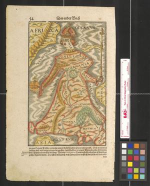 Primary view of object titled '[Map of Europe as queen]'.