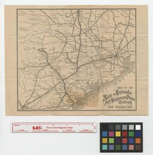 Primary view of object titled 'Map of the San Antonio and Aransas Pass Railway and connections.'.