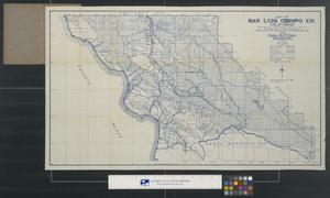 Primary view of object titled 'Map of San Luis Obispo Co. California.'.