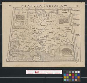 Primary view of object titled 'Tabula Indiae X.'.