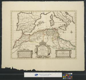 Primary view of object titled 'Africae tabula geographica.'.