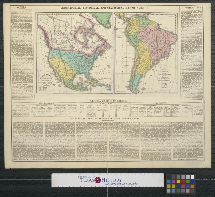 Geographical Map Of America.Geographical Historical And Statistical Map Of America The