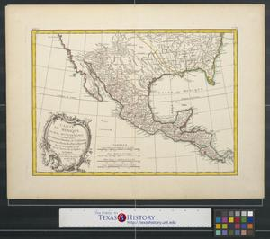 Primary view of Carte du Mexique ou de la [Nouvelle] Espagne contenant aussi le Nouveau Mexique, la Californie, avec une partie des pays adjacents.