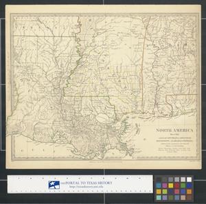North America Sheet XIII Parts Of Louisiana Arkansas - North louisiana map