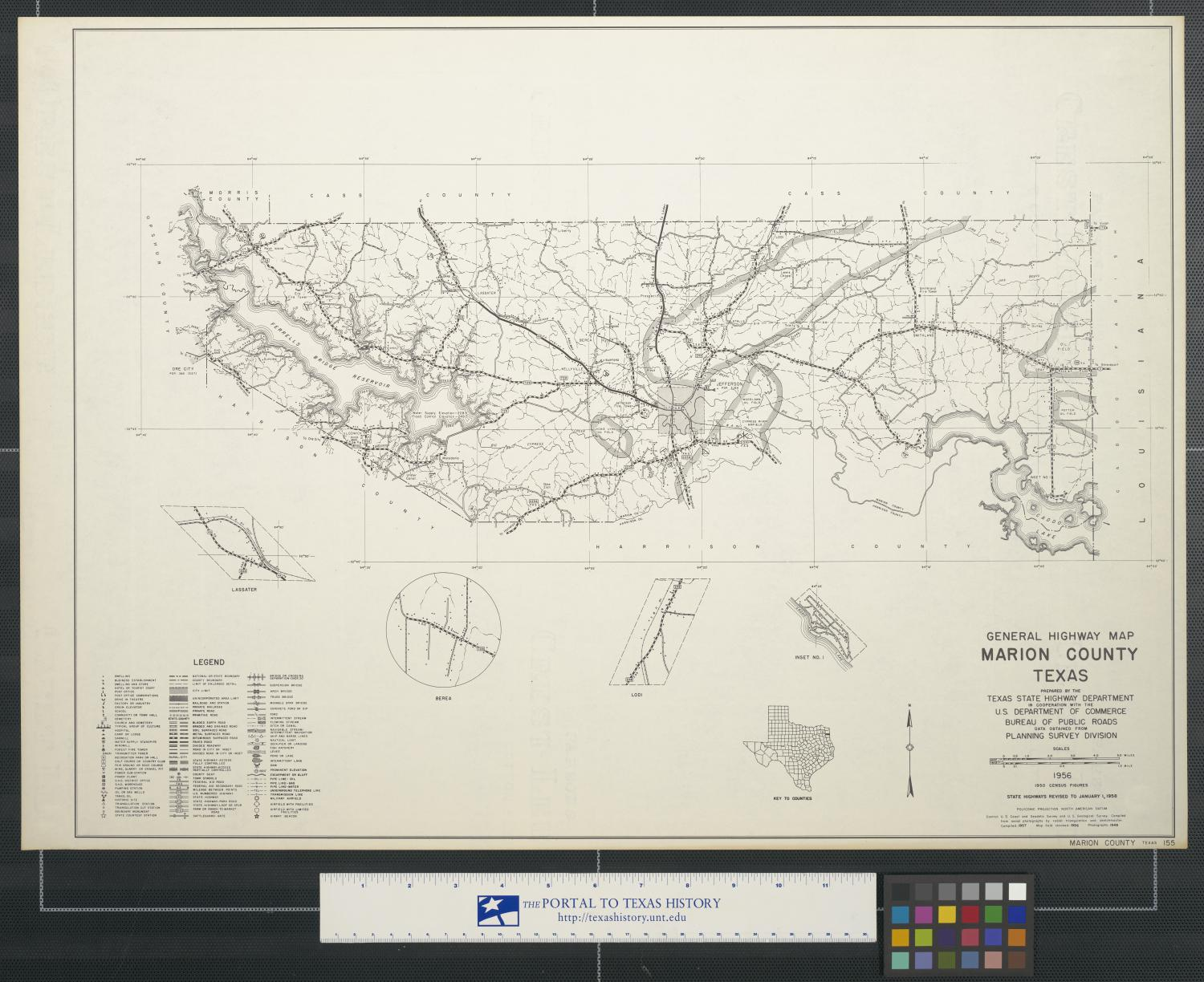 General highway map Marion County Texas - The Portal to ...