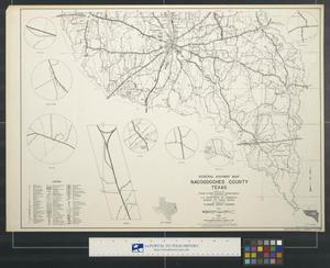 Primary view of object titled 'General highway map Nacogdoches County Texas [Sheet 1]'.
