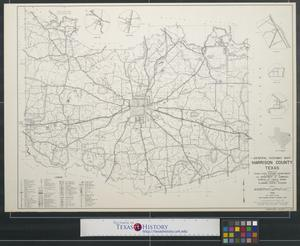 Primary view of object titled 'General highway map Harrison County, Texas'.