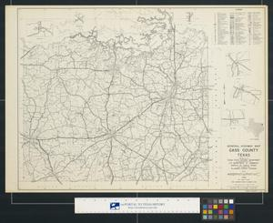 Primary view of object titled 'General highway map Cass County Texas'.