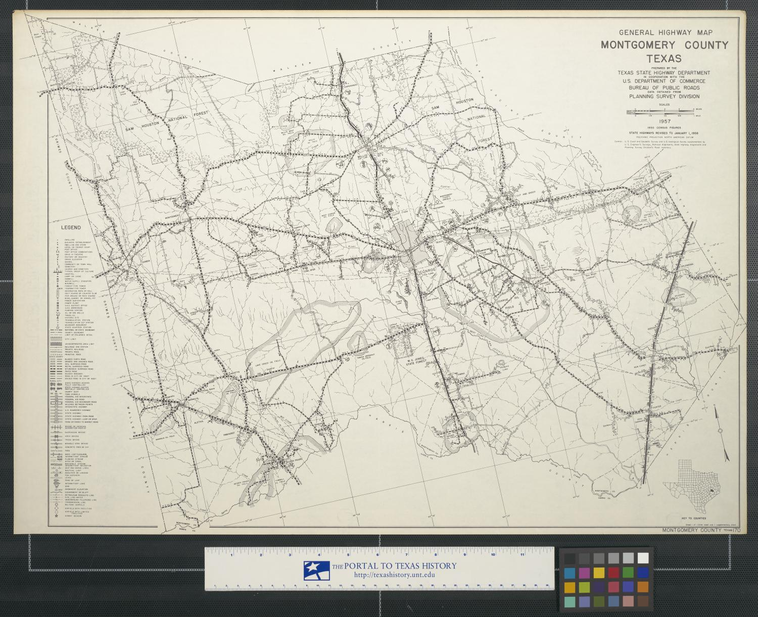 Picture of: General Highway Map Montgomery County Texas The Portal To Texas History