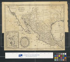 Primary view of Mexico, or, New Spain in which the motions of Cortes may be traced.