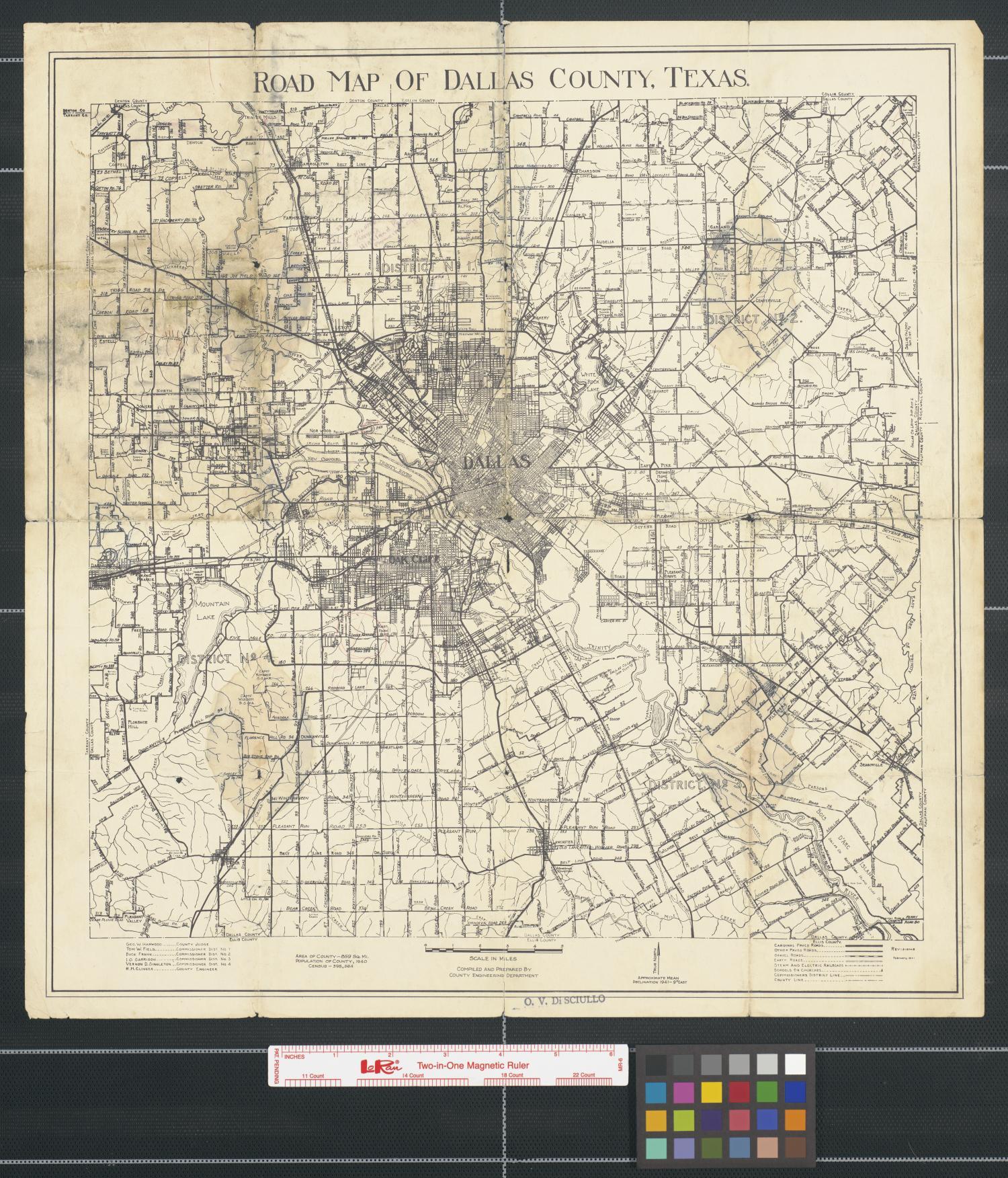Arlington Tx News >> Road Map of Dallas County, Texas - The Portal to Texas History