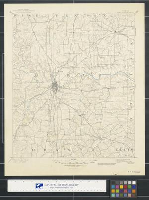 Primary view of object titled 'Texas, Fort Worth sheet.'.