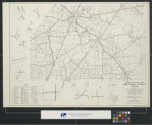 Primary view of object titled 'General highway map Limestone County Texas'.