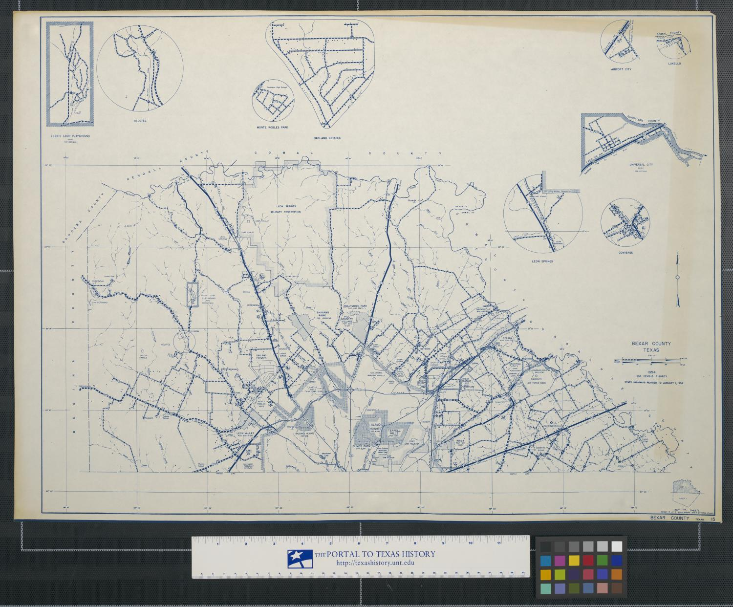 General highway map, Bexar County, Texas [Sheet 1]                                                                                                      [Sequence #]: 1 of 2