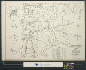 General highway map Robertson County Texas