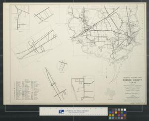 Primary view of object titled 'General highway map Orange County Texas'.