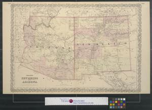 Primary view of object titled 'Colton's New Mexico and Arizona.'.