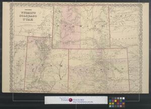 Primary view of object titled 'Colton's Wyoming, Colorado, and Utah.'.