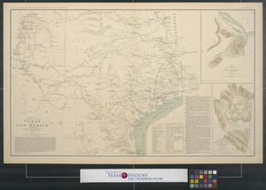 Map of Texas and part of New Mexico The Portal to Texas History
