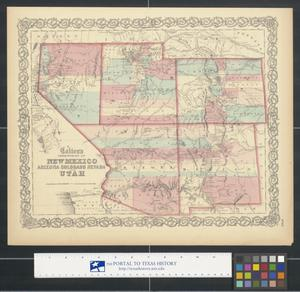 Primary view of object titled 'Colton's Territories of New Mexico, Arizona, Colorado, Nevada, and Utah.'.