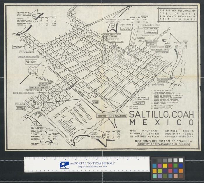 Saltillo Coah Mexico The Portal To Texas History