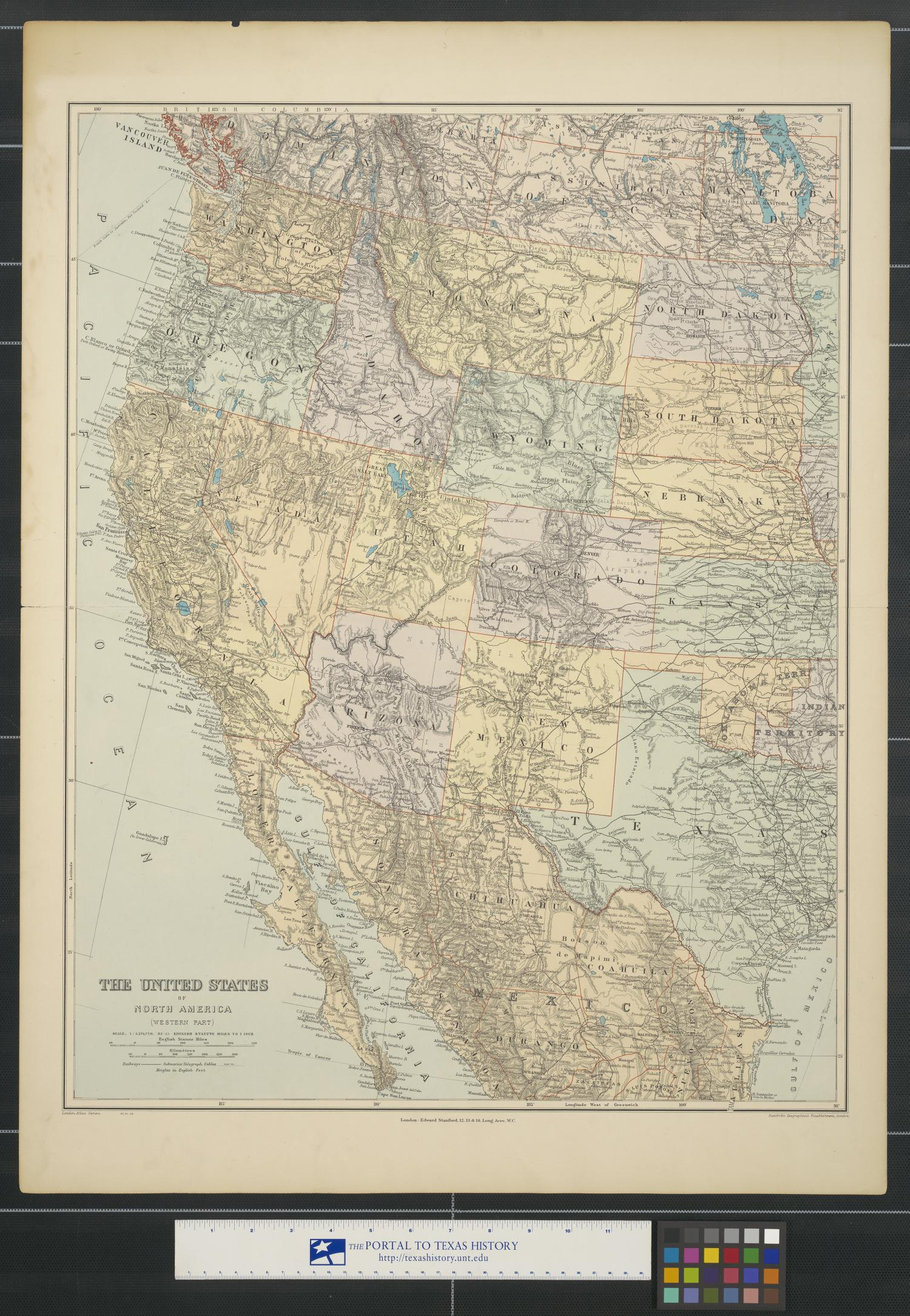 The United States of North America (western part).                                                                                                      [Sequence #]: 1 of 2