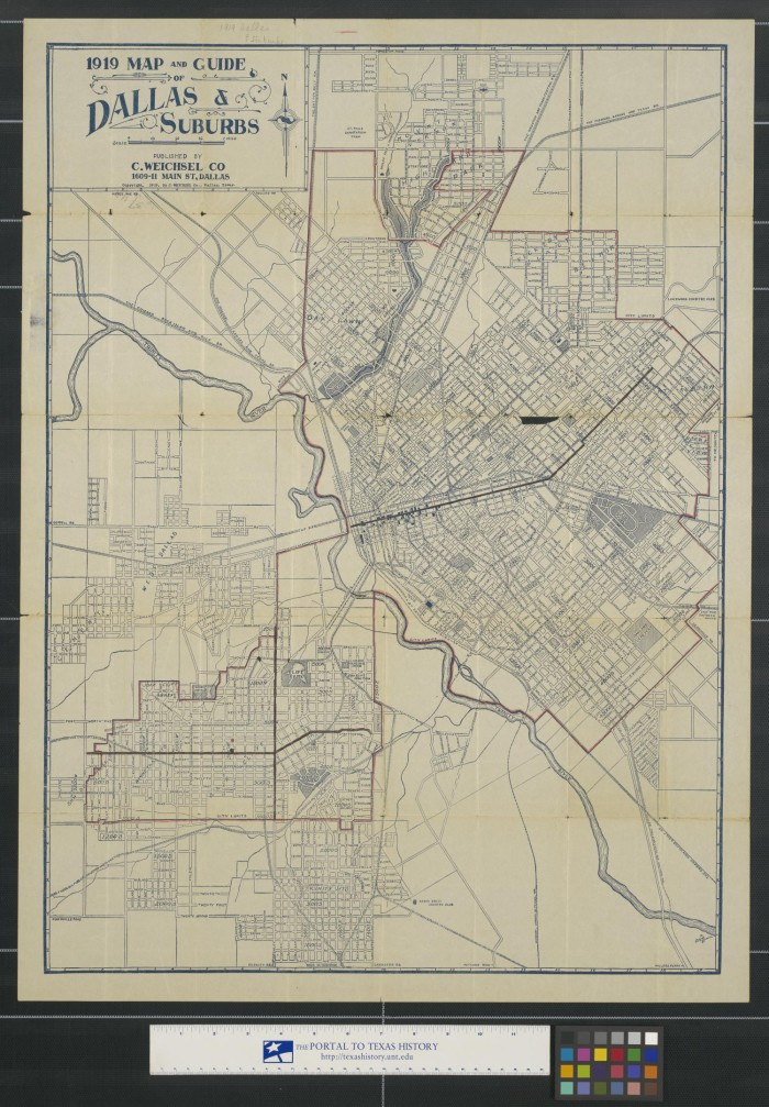 1919 Map and guide of Dallas & suburbs. - The Portal to Texas History