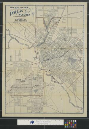 Primary view of object titled '1919 Map and guide of Dallas & suburbs.'.