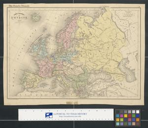 Primary view of object titled 'Carte politique de L'Europe'.