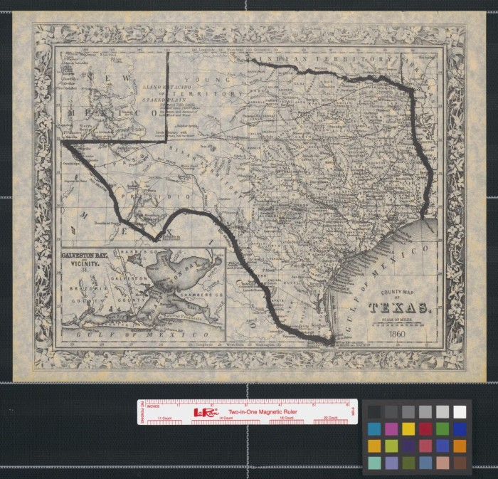 State Of Texas Counties Map.County Map Of Texas 1860 The Portal To Texas History