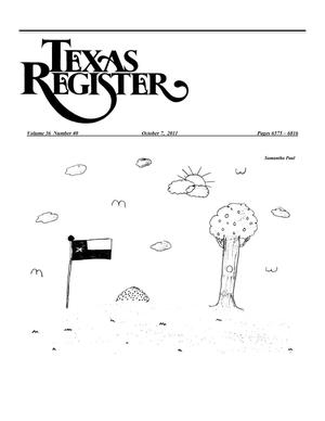 Primary view of object titled 'Texas Register, Volume 36, Number 40, Pages 6575-6816, October 7, 2011'.