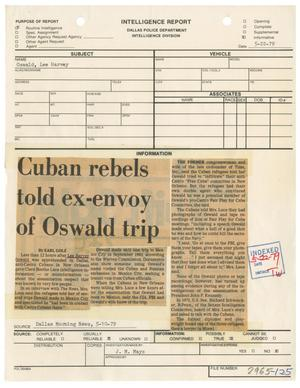 Primary view of object titled '[Intelligence Report - Dallas Morning News Clipping, May 10, 1979]'.