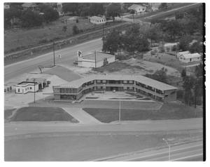 Primary view of object titled '[An aerial view of the West Winds Motel]'.