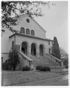 Primary view of object titled '[Exterior of Baptist Church]'.
