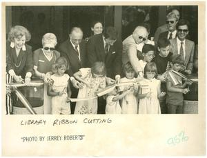 Primary view of object titled 'Ribbon Cutting at Longview Public Library'.