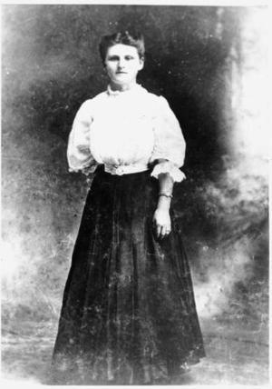 Primary view of object titled '[Full length portrait of Louise Mary Zapalac]'.