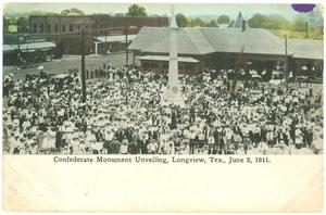 Primary view of object titled '[Longview Confederate Monument Unveiling]'.